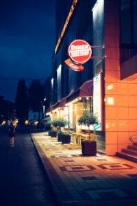 Canva - Lighted Dinner Shop Signage